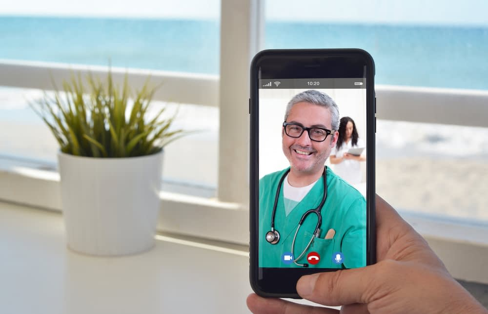 Mobile phone video call voip