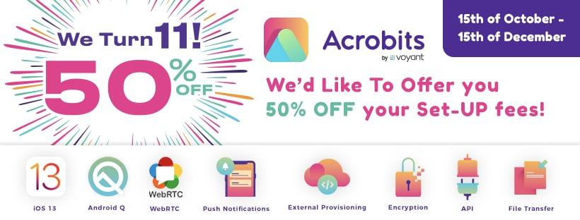 acrobits birthday 50% off